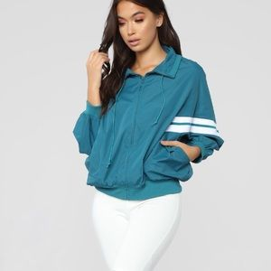 Pull Down Jacket- Teal